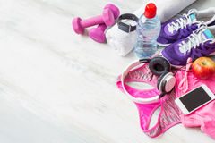 Workout accessories Stock Photos