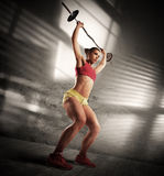 Workout athletic woman royalty free stock photo