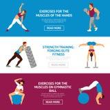 Workout Banner Set Stock Image