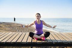 Workout on the beach Royalty Free Stock Photography