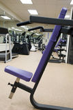 Workout Bench2. A purple workout bench in a gym Royalty Free Stock Photography