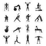 Workout Black And White Set Stock Photo