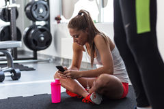 Workout break Stock Photography