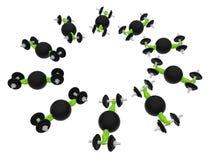 Workout circular pattern logo Royalty Free Stock Photos