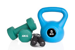 Workout equipment Royalty Free Stock Photos