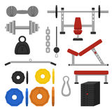 Workout equipments Stock Image