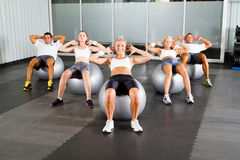 Workout with fitness balls Stock Image
