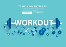 Workout fitness concept workout with equipment Stock Images