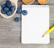 Workout and fitness dieting copy space diary Royalty Free Stock Photography