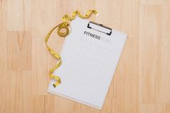 Workout and fitness dieting,Planning control diet concept.  stock photo