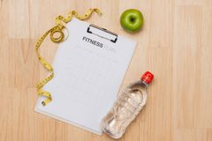 Workout and fitness dieting,Planning control diet concept royalty free stock image