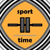 Healthy lifestyle concept. Sport time. Icon in a flat style. Gym Stock Photo