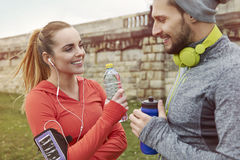 After workout Royalty Free Stock Images