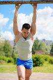 Workout, fitness, sport - concept. Handsome man Royalty Free Stock Photos