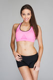 Workout Girl Fitness Ready Stock Images