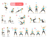 Workout girl set. Royalty Free Stock Photography
