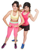 Workout Girls Flexing Royalty Free Stock Photos