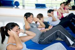 Workout group Stock Images