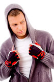 Workout- guy with exercise clothin Stock Photo