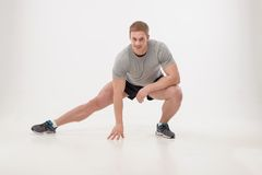Workout in gym Royalty Free Stock Image