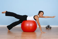 Workout At Gym Royalty Free Stock Photos