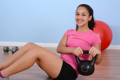 Workout At Gym Stock Images