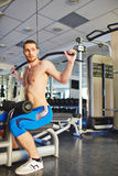 Workout in gym Stock Image