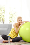 Workout at home Stock Images