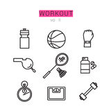 Workout Icons Set for Web and applications Royalty Free Stock Photo