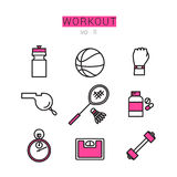 Workout Icons Set for Web and applications Stock Images