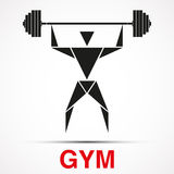 Workout logo with triangle man. Vector Stock Images