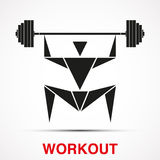 Workout logo with triangle man. Vector Stock Photography