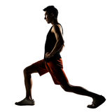 Workout lunges Stock Photography