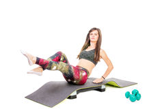 Workout on mat Royalty Free Stock Images