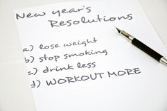 Workout more. New year resolution workout more Stock Images