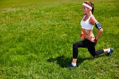 Workout in open air Stock Image