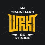 Workout - original lettering. Cover of the training diary. Broch. Ure design template, vector. Flyers report. Magazine poster with motivational slogans. Modern Royalty Free Stock Photo