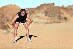 Workout outdoor runner Stock Images
