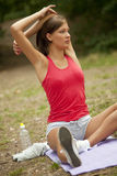 Workout outdoors Stock Photography