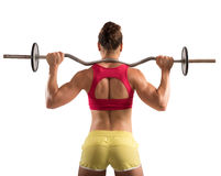 Workout with outrigger Royalty Free Stock Image