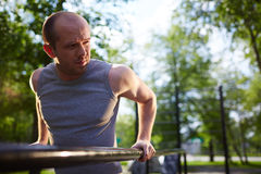Workout outside Stock Images