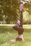 Workout in the park Stock Image
