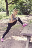 Workout in the park Stock Photography
