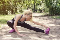 Workout in the park Royalty Free Stock Photos