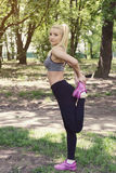Workout in the park Royalty Free Stock Image