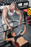 Workout With Personal Trainer Stock Photo