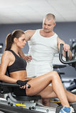 Workout With Personal Trainer Stock Image