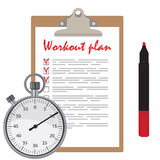 Workout plan Stock Photos