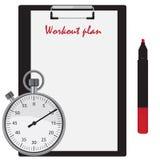 Workout plan Royalty Free Stock Photos