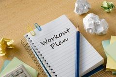 Workout plan Royalty Free Stock Image